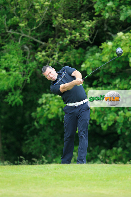 Damien O'Driscoll (Newlands) on the 14th tee during Round 2 of the Irish Mid-Amateur Open Championship at New Forest on Saturday 20th June 2015.<br /> Picture:  Thos Caffrey / www.golffile.ie
