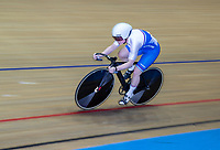 26th January 2020; National Cycling Centre, Manchester, Lancashire, England; HSBC British Cycling Track Championships; Female team sprint round two heat 3 Lusia Steele  (picture with sync slower shutter speed and panning)