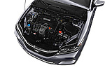 Car Stock 2016 Honda Accord LX-S 2 Door Coupe Engine  high angle detail view