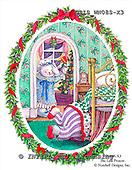 Ingrid, CHRISTMAS SANTA, SNOWMAN, WEIHNACHTSMÄNNER, SCHNEEMÄNNER, PAPÁ NOEL, MUÑECOS DE NIEVE, paintings+++++,USISWN08S-X3,#X# vintage