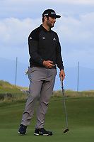 Jon Rahm (ESP) on the 16th green during Round 3 of the Alfred Dunhill Links Championship 2019 at St. Andrews Golf CLub, Fife, Scotland. 28/09/2019.<br /> Picture Thos Caffrey / Golffile.ie<br /> <br /> All photo usage must carry mandatory copyright credit (© Golffile | Thos Caffrey)