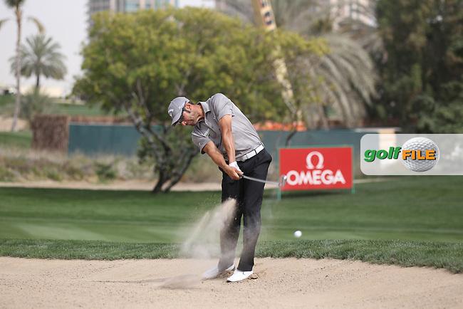 Alvaro Quiros (ESP) in action on the 9th hole during Thursday's Round 1 of the 2012 Omega Dubai Desert Classic at Emirates Golf Club Majlis Course, Dubai, United Arab Emirates, 9th February 2012(Photo Eoin Clarke/www.golffile.ie)