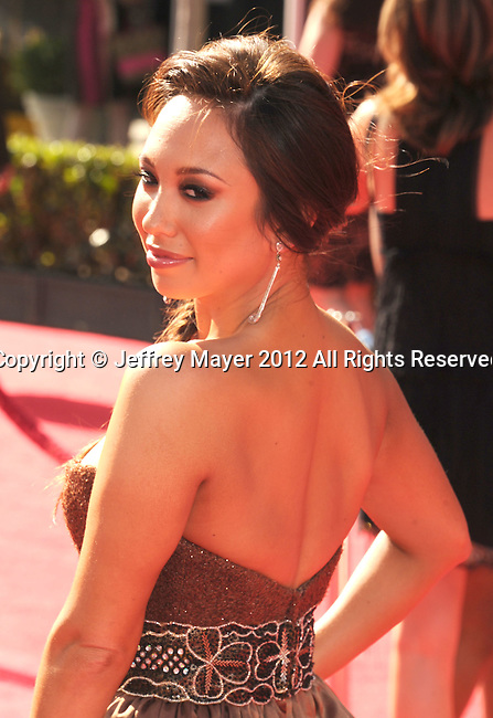 LOS ANGELES, CA - JULY 11: Cheryl Burke arrives at the 2012 ESPY Awards at Nokia Theatre L.A. Live on July 11, 2012 in Los Angeles, California.