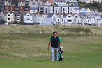 James Sugrue from Ireland on the 3rd fairway during Round 2 Singles of the Men's Home Internationals 2018 at Conwy Golf Club, Conwy, Wales on Thursday 13th September 2018.<br /> Picture: Thos Caffrey / Golffile<br /> <br /> All photo usage must carry mandatory copyright credit (&copy; Golffile | Thos Caffrey)