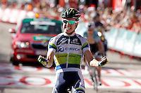 Simon Clarke win the stage of La Vuelta 2012 between Barakaldo and Valdezcaray in presence of Tony Martin (r) second calsified.August 21,2012. (ALTERPHOTOS/Acero) /NortePhoto.com