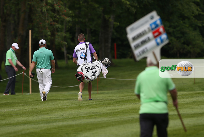 Merrick Bremner (RSA) heading down the 16th during Round Two of the 2015 BMW International Open at Golfclub Munchen Eichenried, Eichenried, Munich, Germany. 26/06/2015. Picture David Lloyd | www.golffile.ie