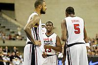 USA's Tyson Chandler (l), Chris Paul (c) and Kevin Durant during friendly match.July 22,2012. (ALTERPHOTOS/Acero) /NortePhoto.com*<br /> **CREDITO*OBLIGATORIO** <br /> *No*Venta*A*Terceros*<br /> *No*Sale*So*third*<br /> *** No Se Permite Hacer Archivo**
