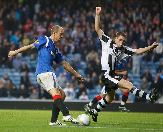 Steven Whittaker passes up a chance to score as David van Zanten blocks his shot