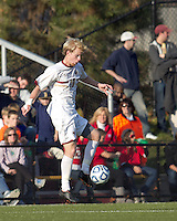 Boston College midfielder Kyle Bekker (10) traps the ball. Rutgers University defeated Boston College in penalty kicks after two overtime periods in NCAA Division I tournament action, at Newton Campus Field, November 20, 2011.