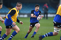 Orlando Bailey of Bath United in action during the pre-match warm-up. Premiership Rugby Shield match, between Bath United and Gloucester United on April 8, 2019 at the Recreation Ground in Bath, England. Photo by: Patrick Khachfe / Onside Images