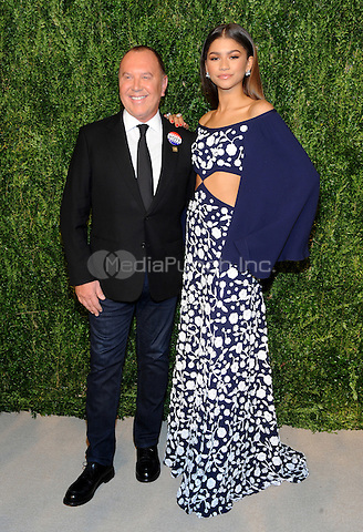 NEW YORK, NY - NOVEMBER 07: Michael Kors and Zendaya attends 13th Annual CFDA/Vogue Fashion Fund Awards at Spring Studios on November 7, 2016 in New York City. Photo by John Palmer/ MediaPunch