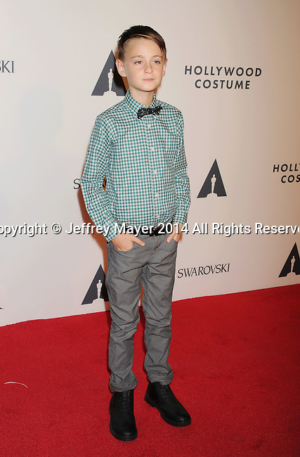 LOS ANGELES, CA- OCTOBER 01: Actor Jaeden Lieberher  attends The Academy of Motion Picture Arts and Sciences' Hollywood Costume Opening Party at the Wilshire May Company Building on October 1, 2014 in Los Angeles, California.