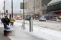 NEW YORK, NY, 14.03.2017 - CLIMA-NEW YORK - Vista de Manhattan em New York nos Estados Unidos durante a Nevasca Stella considerada a maior tempestade de neve dos últimos anos provocando cancelamento de quase 7.000 voos segundo a CNN. (Foto: William Volcov/Brazil Photo Press/Folhapress)