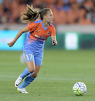 Andressa Machry (17) of the Houston Dash looks to pass the ball in the first half against the Chicago Red Stars on Saturday, April 16, 2016 at BBVA Compass Stadium in Houston Texas.