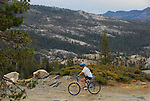 mountain bicyclist near Ebbetts Pass