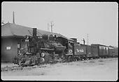 D&amp;RGW #470 K-28 at Santa Fe station.<br /> D&amp;RGW  Santa Fe, NM  Taken by Perry, Otto C. - 9/1/1941