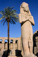 Majestic statue of Ramses II at Karnak Temple, Luxor, Egypt.