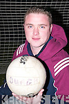 Head and Shoulders of Aidan Kelly, Captain of the Duagh Football Team..