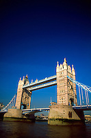 Tower Bridge on the River Thames, London, England