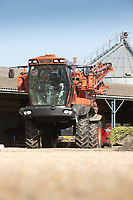 Crop sprayer parked in a farmyard  <br /> ©Tim Scrivener Photographer 07850 303986<br />      ....Covering Agriculture In The UK....