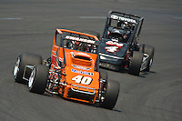 28 June, 2008, Tracy, California, USA.The TOYOTA powered sprint cars of Kody Swanson (40) and Tony Hunt..©2008 F.Peirce Williams, USA.F. Peirce Williams.photography.