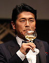 "May 20, 2016, Tokyo, Japan - Japanese actor Katsunori Takahashi toasts for the opening of ""Aperitif 365"" event in Tokyo on Friday, May 20, 2016. Thousands of visitors are expecting to enjoy aperitifs and hors d'oeuvres at the three-day event for the promotion of French foods and drinks.  (Photo by Yoshio Tsunoda/AFLO) LWX -ytd-"