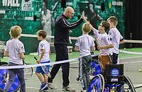 Rotterdam, Netherlands, 11 februari, 2018, Ahoy, Tennis, ABNAMROWTT, Practise, tennis wall<br /> Photo: Henk Koster/tennisimages.com