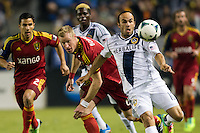 CARSON, California - November 3, 2013: The LA Galaxy  defeated Real Salt Lake 1-0 during a Major League Soccer (MLS) playoff game at StubHub Center stadium.