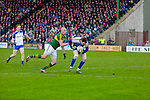 Kerry's Kieran Donaghy is denied by  Monaghan's  goalie Rory Beggan in the Allianz Football League Kerry V Monaghan at Austin Stack Park on Sunday