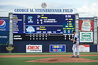 Tampa Tarpons pitcher Trevor Stephan (35) gets ready to deliver a pitch during a Florida State League game against the Jupiter Hammerheads on July 26, 2019 at George M. Steinbrenner Field in Tampa, Florida.  Stephan struck out 9 batters over 7 innings for a no-hitter in the first game of a doubleheader.  Tampa defeated Jupiter 2-0.  (Mike Janes/Four Seam Images)