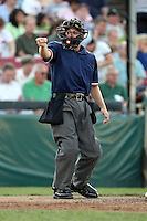 August 17 2008:  Home plate umpire Keith Rogowski during a game at Philip B. Elfstrom Stadium in Geneva, IL.  Photo by:  Mike Janes/Four Seam Images