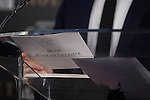 The envelope with the nominates for best actress during the reading of the nominates for Goya 2017 at Academia de Cine in Madrid, Spain. December 14, 2016. (ALTERPHOTOS/BorjaB.Hojas)