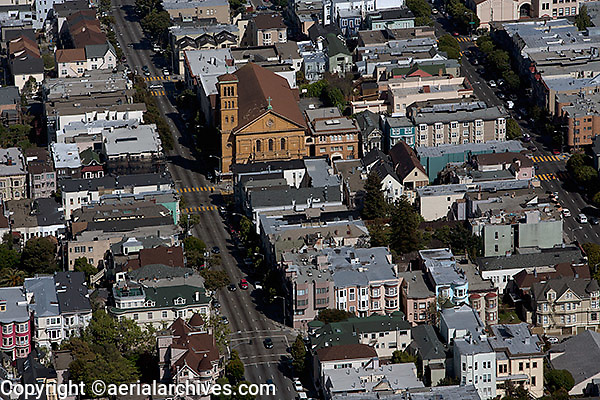 aerial photograph Hayes Valley residential neighborhood San Francisco California