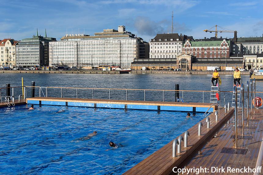 Badeanstalt Allas Seapool im Südhafen, Helsinki, Finnland