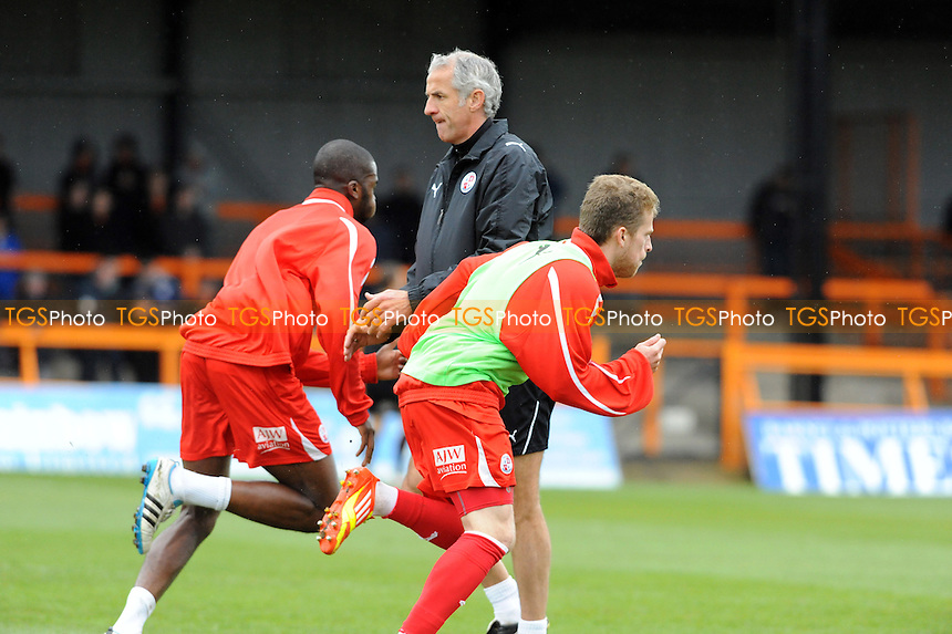 Crawley Town caretaker manager Craig Brewster gets involved in the warm-up - Barnet vs Crawley Town - nPower League Two Football at Underhill Stadium - 09/04/12 - MANDATORY CREDIT: Anne-Marie Sanderson/TGSPHOTO - Self billing applies where appropriate - 0845 094 6026 - contact@tgsphoto.co.uk - NO UNPAID USE.