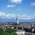 Panorama della Città di Torino, vista dal piazzale del Monte dei Cappuccini. Aprile 2007..Turin view from Monte dei Cappuccini. April 2007..Ph. Marco Saroldi/Pho-to.it..