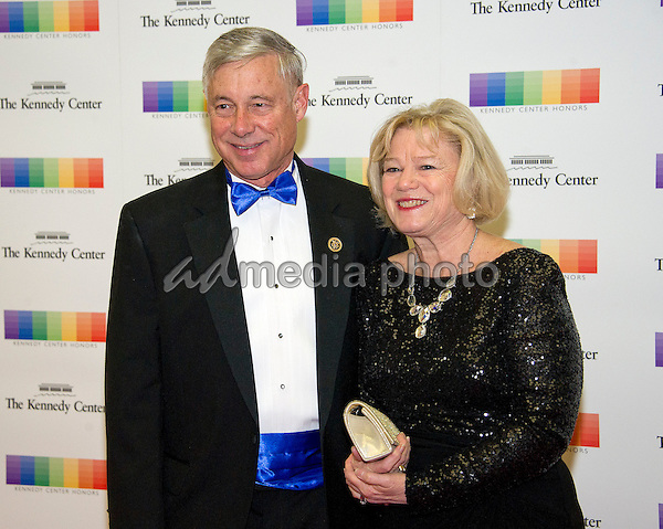 United States Representative Fred Upton (Republican of Michigan and his wife, Amey Rulon-Miller, arrive for the formal Artist's Dinner honoring the recipients of the 39th Annual Kennedy Center Honors hosted by United States Secretary of State John F. Kerry at the U.S. Department of State in Washington, D.C. on Saturday, December 3, 2016. The 2016 honorees are: Argentine pianist Martha Argerich; rock band the Eagles; screen and stage actor Al Pacino; gospel and blues singer Mavis Staples; and musician James Taylor. Photo Credit: Ron Sachs/CNP/AdMedia