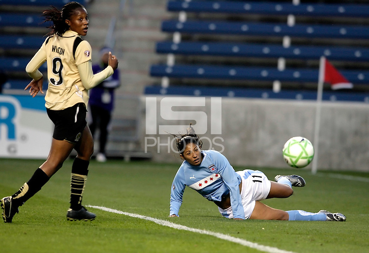 Chicago Red Star forward Cristiane (11) watches a scoring chance go wide.  The defeated the FC Gold Pride defeated the Chicago Red Stars 1-0 at Toyota Park in Bridgeview, IL on May 16, 2009.