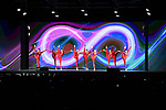 Entertainment on stage at the Teams Presentation held in Piazza Maggiore Bologna before the start of the 2019 Giro d'Italia, Bologna, Italy. 9th May 2019.<br /> Picture: Massimo Paolone/LaPresse | Cyclefile<br /> <br /> All photos usage must carry mandatory copyright credit (&copy; Cyclefile | Massimo Paolone/LaPresse)