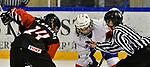03.01.2020, BLZ Arena, Füssen / Fuessen, GER, IIHF Ice Hockey U18 Women's World Championship DIV I Group A, <br /> Frankreich (FRA) vs Japan (JPN), <br /> im Bild Ami Sasaki (JPN, #14), Julia Mesplede (FRA, #19)<br /> <br /> Foto © nordphoto / Hafner