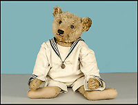 BNPS.co.uk (01202 558833)<br /> Pic: SAS/BNPS<br /> <br /> A large and early Steiff teddy bear circa 1910 estimated at &pound;2,000.<br /> <br /> One woman's epic collection of more than 600 teddy bears is expected to fetch &pound;40,000 when it goes under the hammer.<br /> <br /> The late Yvonne Crompton amassed 635 bears, as well as teddy ornaments and pictures, over 50 years of collecting and had many limited edition models.<br /> <br /> Her vast collection filled a whole room from floor-to-ceiling at her five-bedroom family home in Wimbledon, south west London.<br /> <br /> Mrs Crompton spent decades scouring car boot sales, antique fairs and specialist exhibitions for her bears, which her husband Rufus would also often buy her as presents.