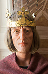 King Alfred the Great ( 849-899) Anglo-Saxon king mannequin display with permission of Chippenham museum, Wiltshire, England, UK