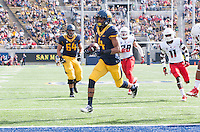 Saturday, November 2nd, 2013: California's Kenny Lawler runs for a touchdown after receiving a pass from Jared Goff during a game against Arizona at Memorial Stadium, Berkeley, Final Score: Arizona defeated California 33-28