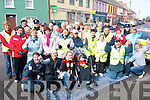 ANNUAL: The Hospice Walkers in Listowel who gathered themselves on Good Friday morning and left St Patrick's hall for their annual hospice walk.   Copyright Kerry's Eye 2008
