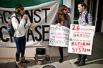 Students protest outside a meeting of the UC Regents at UC Davis, No ember 28, 2011.