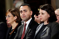 Minister of Economic Development Luigi di Maio<br /> Rome December 19th 2018. Quirinale. Traditional exchange of Christmas wishes between the President of the Republic and the institutions.<br /> Foto Samantha Zucchi Insidefoto