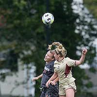 Newton, Massachusetts - October 25, 2015: NCAA Division I. In overtime, Boston College (gold) defeated University of Miami (charcoal gray), 5-4, at Newton Campus Soccer Field.