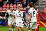 25.07.2017, Stadion Galgenwaard, Utrecht, NLD, Tilburg, UEFA Women's Euro 2017, Russland (RUS) vs Deutschland (GER), <br /> <br /> im Bild | picture shows<br /> Anja Mittag (Deutschland #11) | (Germany #11) jubelt mit Babett Peter (Deutschland #5) | (Germany #5), <br /> <br /> Foto © nordphoto / Rauch
