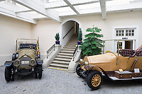 Austria, Lower Austria, Nibelungengau, close to the wine region of the Wachau, Artstetten: Archduke-Heir Francis Ferdinand's Castle of Artstetten, here the life and times of Archduke-Heir Francis Ferdinand, who was assassinated in Sarajewo, are still maintained, models of those cars being used at Sarajewo in 1914