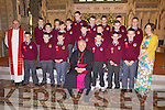 6th class pupils from Scoil Realta na Maidine who were confirmed by the Bishop of Kerry in Listowel last Thursday...No names policy..